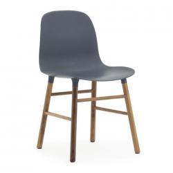 Normann Copenhagen Form Chair Walnut Legs Blue