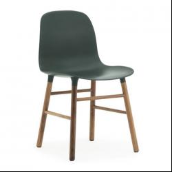 Normann Copenhagen Form Chair Walnut Legs Green