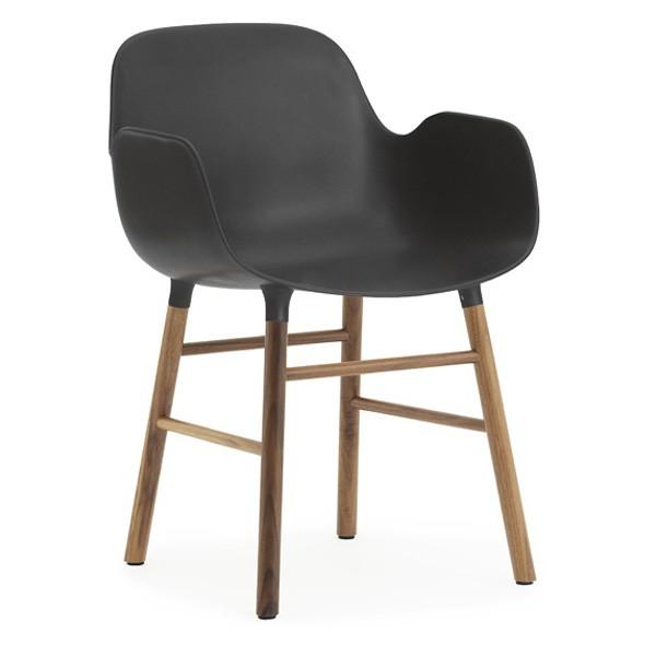 Normann Copenhagen Form Armchair Walnut Legs Black