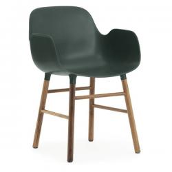 Normann Copenhagen Form Armchair Walnut Legs Green