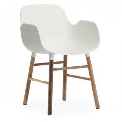 Normann Copenhagen Form Armchair Walnut Legs White