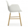 Normann Copenhagen Form Armchair Oak legs White