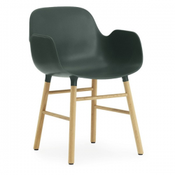 Normann Copenhagen Form Armchair Oak legs Green