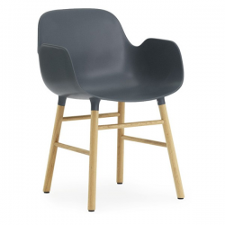 Normann Copenhagen Form Armchair Oak legs Blue