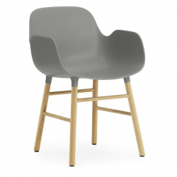 Normann Copenhagen Form Armchair Oak legs Grey