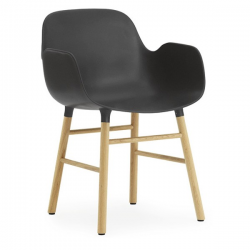 Normann Copenhagen Form Armchair Oak legs Black