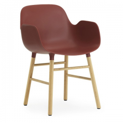 Normann Copenhagen Form Armchair Oak legs Red
