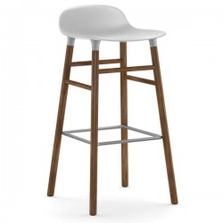 Normann Copenhagen Form Stool 75cm Wallnut Legs