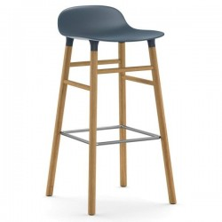 Normann Copenhagen Form Stool 75cm Oak Legs