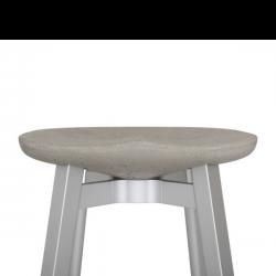 Emeco Su Stool Concrete Seat- 47cm Height