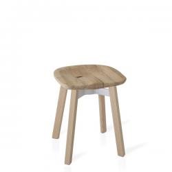 Emeco Su Small Stool, Reclaimed Oak Seat