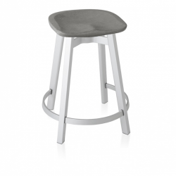 Emeco Su Counter Stool Eco Concrete Seat