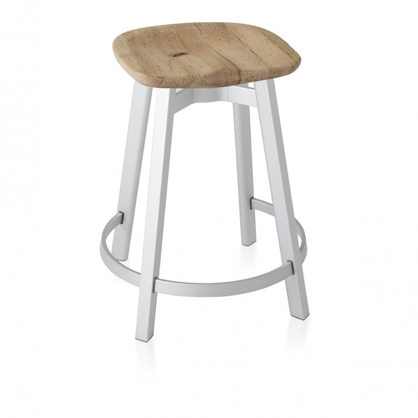Emeco Su Counter Stool Reclaimed Oak Seat