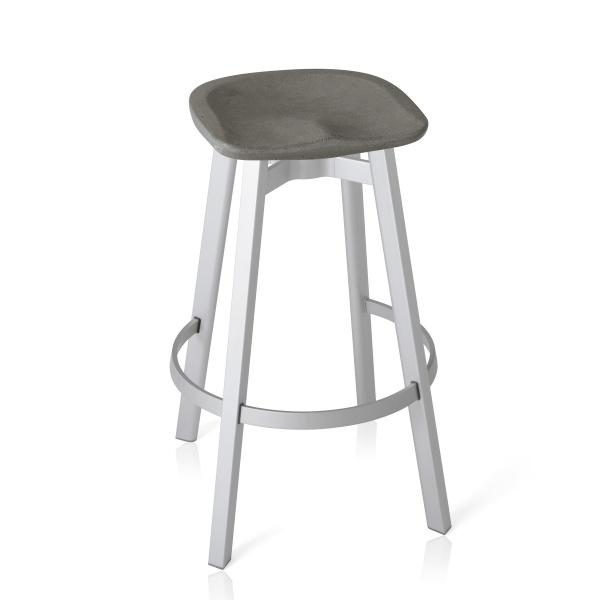 Emeco Su Barstool Eco Concrete Seat