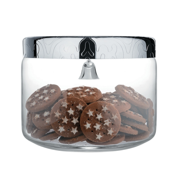 Alessi Dressed Biscuit Box in Glass