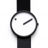 Rosendahl Picto White Dial Black Leather Strap Watch