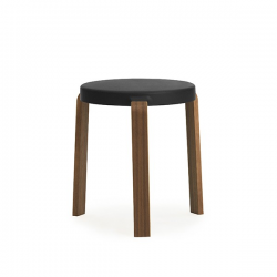Normann Copenhagen Tap Stool Walnut Black