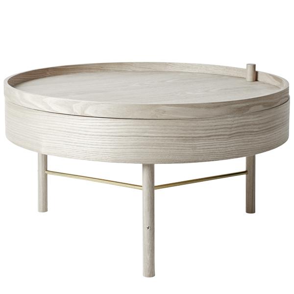 Menu Turning Table - coffee table white ash