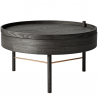 Menu Turning Table - coffee table black oak