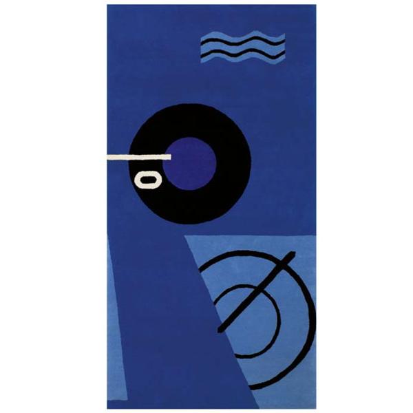 ClassiCon Blue Marine Rug, Eileen Gray 1925 – 1935