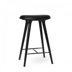 Mater High Stool Black Stained Beech 69cm