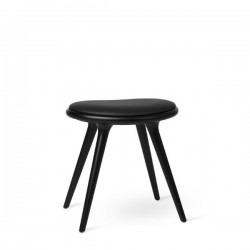 Mater Low Stool Black Stained Beech