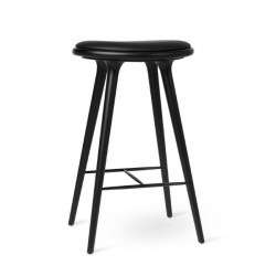 Mater High Stool Black Stained Beech 74cm