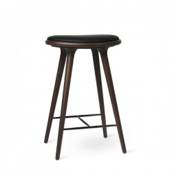 Mater  High Stool Dark stained Beech 69cm