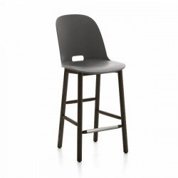 Emeco Alfi Counter Stool, High Back