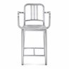 Emeco Navy Counter Stool with Arms