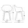 Magis Substance Armchair with Aluminium Legs