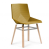 Mobles 114 Green Colors Wooden Legs Chair