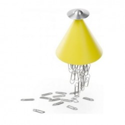 Alessi Spettro Magnetic Paper Clip Holder Yellow