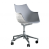 Driade Meridiana Easy Chair Leather with Soft Castors