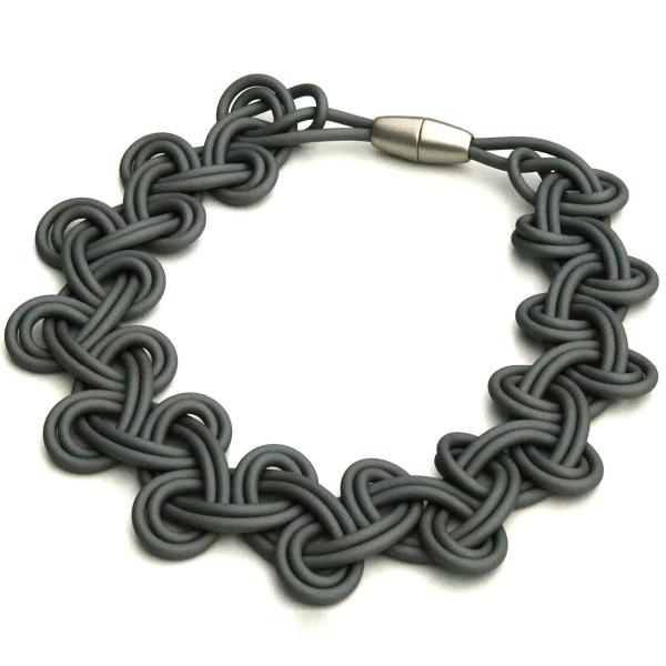 Materia Design Lace PVC Necklace