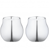 Georg Jensen Cafu Tea LIght Holder stainlees Steel 2 pieces