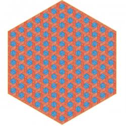 Moooi Hexagon Red/Blue Signature Carpet