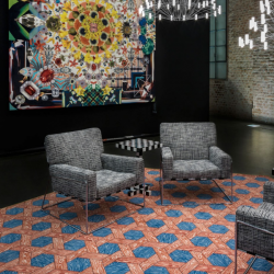 Moooi Hexagon Red/Blue Signature Carpet