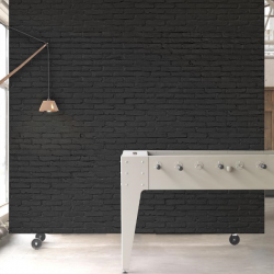 NLXL Black Brick Wallpaper