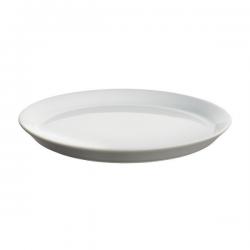 Alessi Tonale Small Plate in Stoneware Light Grey