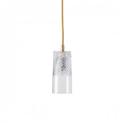 Ebb & Flow Bates crystal lamp, single pendant