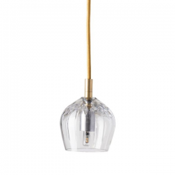 Ebb & Flow Cognac crystal lamp, single pendant