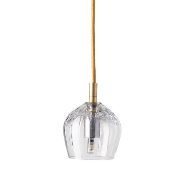 Ebb & Flow Cognac crystal lamp, single pendant