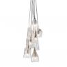 Ebb & Flow Crystal lamp - group of 7 pendants