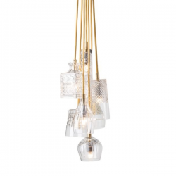 Ebb & Flow Crystal lamp - group of 7 pendants