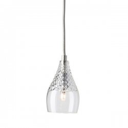 Ebb & Flow Henley crystal lamp, single pendant