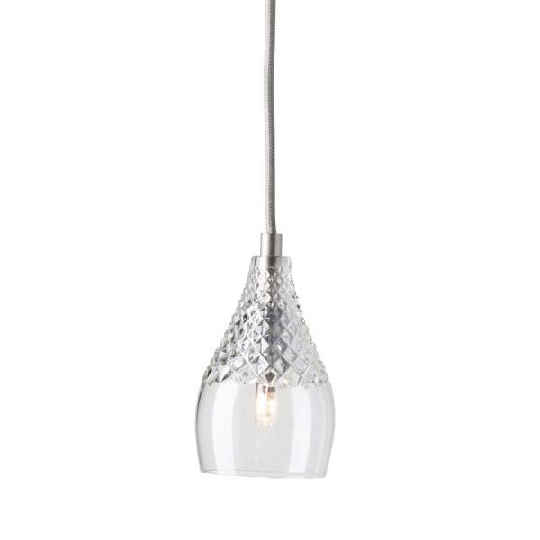 Ebb & Flow Henley crystal lamp, single pendant