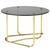 Gubi Matégot Lounge Table Smoked Glass