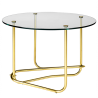 Gubi Matégot Lounge Table Clear Glass