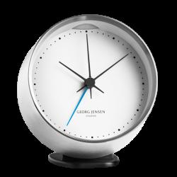 Georg Jensen HK CLOCK w. alarm, black-white